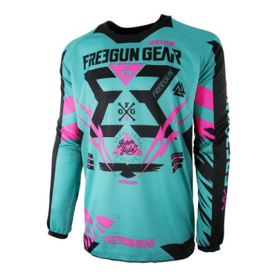 Maillot Cross Freegun Contact Trooper Mint Néon Rose 2017