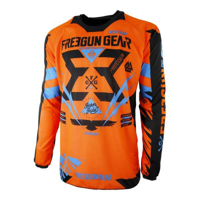 Maillot Cross Freegun Contact Trooper Néon Orange Cyan 2017