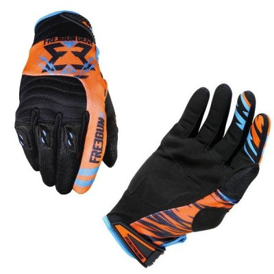 Gants Cross Freegun Contact Trooper Néon Orange Cyan 2017