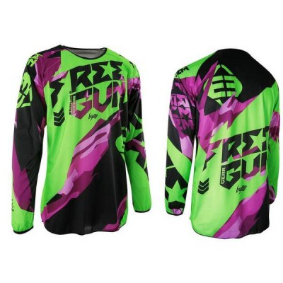 Maillot Cross Freegun Devo Honor Néon Vert Violet 2017