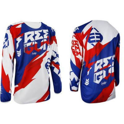 Maillot Cross Freegun Devo Honor Bleu Rouge 2017