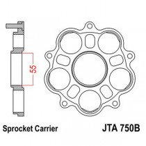 Support de Couronne JT Sprockets Ducati 5 Silent-Bloc