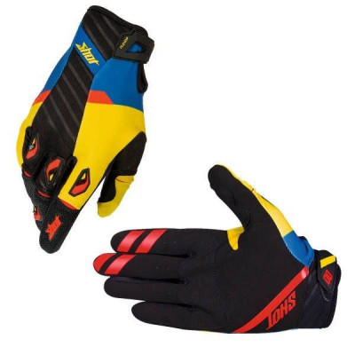 Gants cross Shot Flexor System Yellow Blue Red 2016