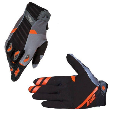 Gants cross Shot Flexor System Grey Orange 2016