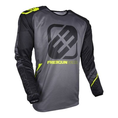Maillot Cross Freegun College Gris/Néon Jaune 2018