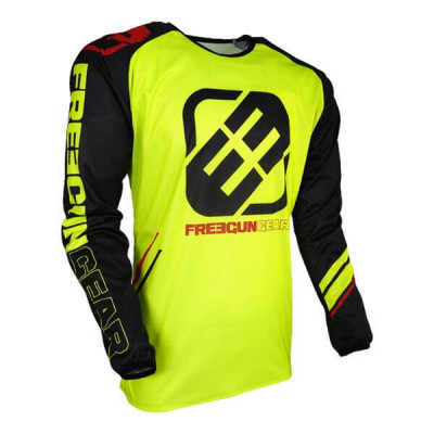 Maillot Cross Freegun College Néon Jaune 2018