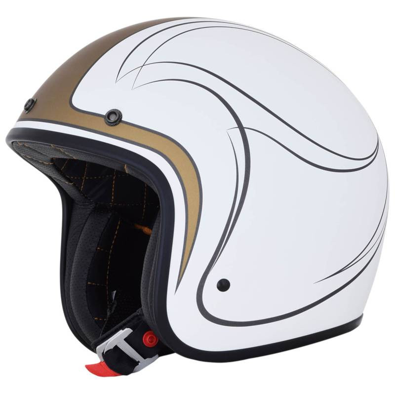 Casque Jet AFX FX76 Claymore Blanc Or Argent
