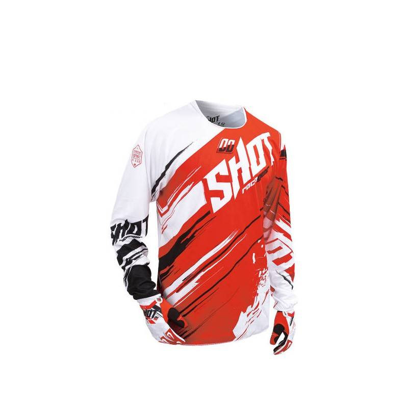 Maillot Cross Shot Contact Genesis Red 2016