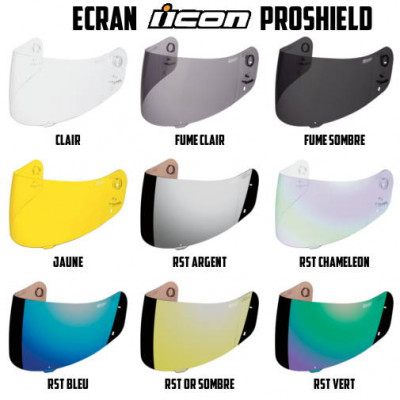 ECRAN ICON PROSHIELD POUR CASQUE INTEGRAL AIRFRAME - ALLIANCE