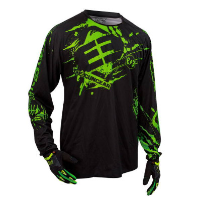 Maillot Cross Freegun Contact Freak Vert 2016