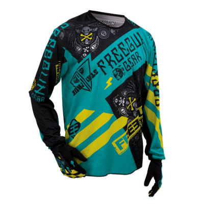 Maillot Cross Freegun Devo Bandana Mint Lime 2016