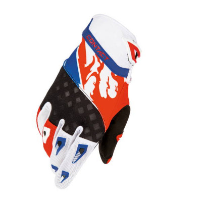Gants cross Freegun Contact US Rouge Bleu 2016