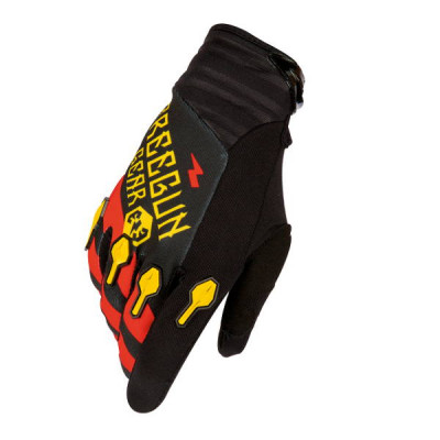 Gants cross Freegun Devo Bandana Jaune Rouge 2016