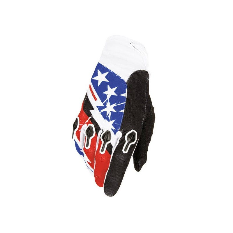 Gants cross Enfant Freegun Devo US Rouge Bleu 2016