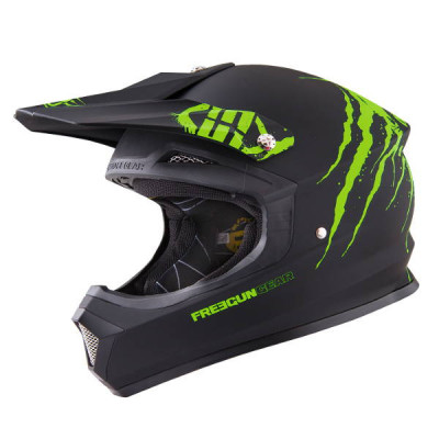 Casque Cross Freegun XP-4 Freak Vert Mat 2016