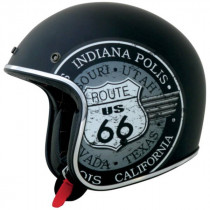 Casque Jet AFX FX76 Route 66 Flat Black